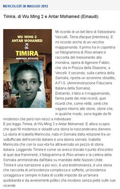 Timira, di Wu Ming 2 e Antar Mohamed (Einaudi) S Word, Kobe, Club, Baseball Cards, Books, Libros, Book, Book Illustrations, Libri