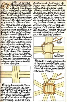 87 - les paniers (Savoir Revivre) Rope Basket, Basket Weaving, Diy Paper, Paper Crafts, Money Bouquet, Cosmetic Courses, Medieval Crafts, Projects To Try, Hair Accessories
