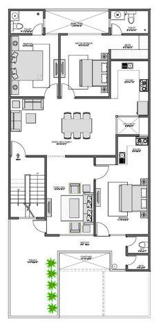 2bhk House Plan, Model House Plan, Duplex House Plans, Bedroom House Plans, New House Plans, House Floor Plans, Home Map Design, Home Design Floor Plans, Village House Design