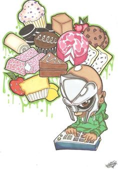 mf doom, hoe cakes!           - lord sketch          suppa!