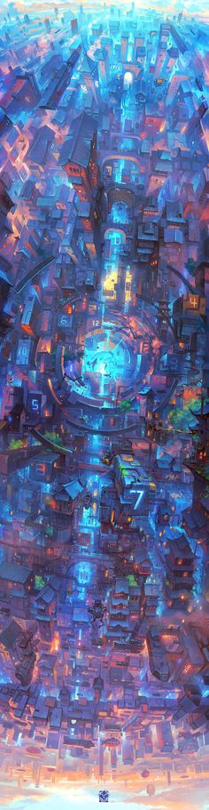 The City Of Galaxy on Behance Cyberpunk Anime, Cyberpunk City, Futuristic City, Space Anime, Galaxy Anime, Anime City, Galaxy Design, City Drawing, Space City