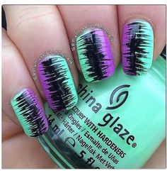 Try some of these designs and give your nails a quick makeover, gallery of unique nail art designs for any season. The best images and creative ideas for your nails. Get Nails, Love Nails, Hair And Nails, Nail Polish Designs, Cute Nail Designs, Nails Design, Bright Nail Designs, Funky Nails, Trendy Nails