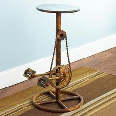 stool-made-from-bicycle-pedals-chain-and-gears.jpg (400×400)
