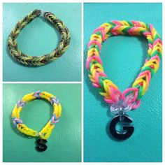Fishtails with charm letters