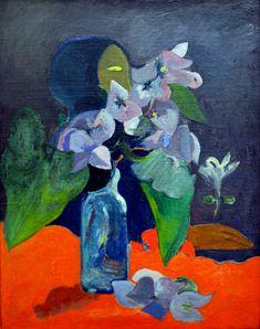 Paul Gauguin - Nature morte aux fleurs et a l'idole, 1892 at Kunsthaus Zürich - Zurich Switzerland