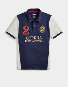 Gurkha French Navy Classic Fit Polo Shirt  | Joules UK