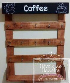 Porta xícaras em madeira