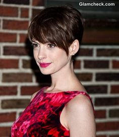 Anne Hathaway pixie cut- what I styled my hair after!