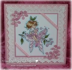 LOTV - Fairy with Dove by Christine Levison Hobby House, Beautiful Handmade Cards, Tampons, Lily Of The Valley, Card Designs, Kids Cards, Cute Cards, Hobbies And Crafts, So Little Time