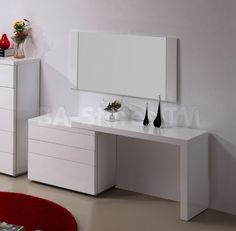 Athens 3 PC Vanity Set in White | Vanities and mirrors Athens-Vanity-WH/8