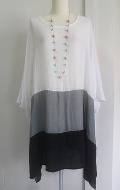 Lagenlook tunic or dress. Found on Etsy.