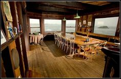 unique dining rooms   ... unique dining room view wooden house design on an small island