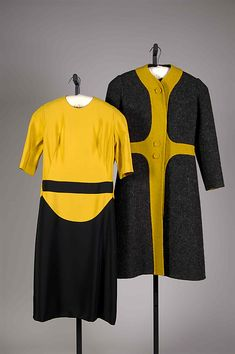 1968-1969 wool and silk ensemble by Madame Grès. Gift of Mrs. William Randolph Hearst, Jr., 1975. Via MMA.