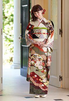 振袖の商品詳細: NO.1448 正絹 京友禅|振袖のレンタルは京都きもの友禅