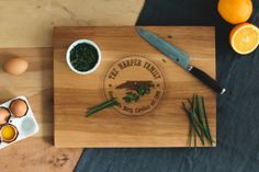 Personalized Wood Cutting Board - 12x16