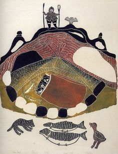 An illustration in Inuit Women Artists