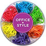#ad Office+Style Colored Rubber Bands with Close-Lid Storage Container, 120 Pieces  Office+Style Colored Rubber Bands add life to any office or home. The bright colored rubber bands make them more noticeable and less boring than standard ones. They come in a convenient six compartment plastic transparent container with a re-closable lid for easy storage. The Rubber bands are made from durable rubber that will last longer than standard rubber bands. The size of each rubber band is 32x..