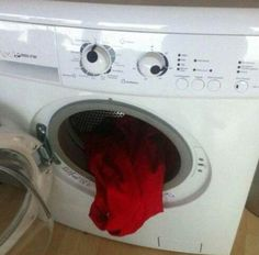 WTF?! Laundry should not be this scary. Click through for more WTF Wednesday pics!