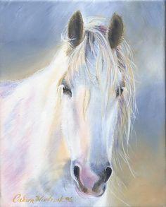 """""""Belle"""" Drum Horse Artwork by Caron Wiedrick ArtsofEden"""