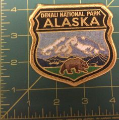 Embroidered Alaska Patch - Denali National Park and Bear - Mt. McKinley and bear . If you click the View Page button, it will take you to our eBay store listing for this patch. When you click the following link, it will take you to our Way Up IN Alaska Patches page: http://www.wayupinalaska.com/patches.html