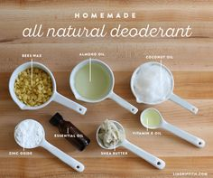 Homemade deodorant ingredients                                                                                                                                                                                 More
