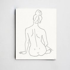 minimalistic line drawing woman etsy - simple woman sketch Back Drawing, Figure Drawing, Line Drawing, Painting & Drawing, Silhouette Artist, Woman Silhouette, Woman Sketch, Woman Drawing, Drawing Women
