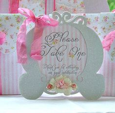 Princess Carriage Tent Sign: Shabby Chic Birthday Party on Etsy, $10.00