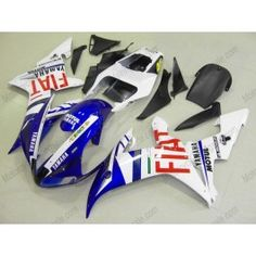 Yamaha YZF-R1 2002-2003 Injection ABS Fairing - FIAT - White/Blue | $669.00
