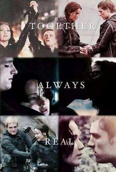 The Hunger Games Igrzyska Śmierci Mockingjay Kosogłos Catching Fire W Pierścieniu Ognia Katniss Peeta Peetniss together always real