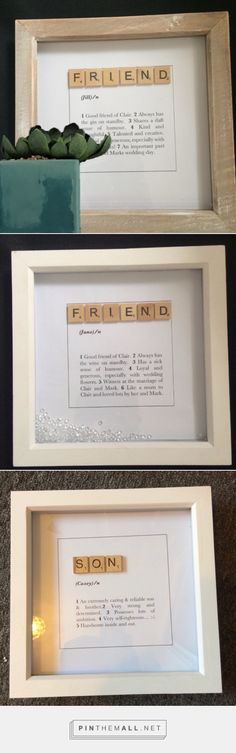 A quirky way to let your friend know how much you value them. Personalised with any wording of your choice in a dictionary style print on top quality textured paper-stock. Available also for mum, dad, aunt, son, daughter, etc. Friend Scrabble Dictionary Frame Scrabble frame Scrabble wall art Scrabble art Personalised family name dictionary art dictionary print
