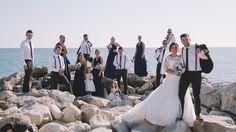 Beach formal wedding photography