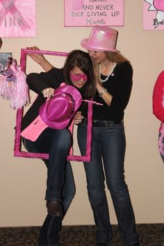 One last round of Photo-Booth, Photo-Bomb Pictures! - Pink Ladies Snow Ride for a Cure