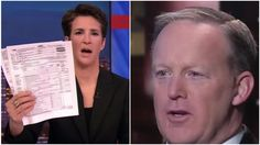 Sean Spicer Falsely Accuses Rachel Maddow Of A Crime As Trump Smears MSNBC Host