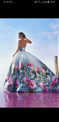 My Wedding Gown - wedding dresses online-store Quinceanera Dresses, Prom Dresses, Wedding Dresses, Beautiful Gowns, Beautiful Outfits, Pretty Outfits, Pretty Dresses, Vestido Charro, Moda Floral