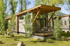 This tiny Wedge cabin looks great and has a place for everything Inhabitat - Sustainable Design Innovation, Eco Architecture, Green Building Modern Small House Design, Tiny House Design, Modern Design, Small Modern Cabin, Contemporary Cabin, Small Cabins, Cabin Design, Rustic Modern, Eco Architecture