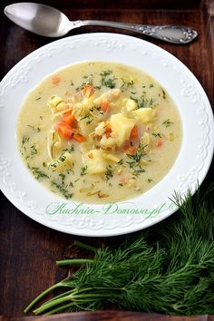 Try this Przepisy recipe, or contribute your own. Great Recipes, Soup Recipes, Healthy Recipes, Polish Soup, Polish Recipes, Soups And Stews, Cheeseburger Chowder, Food And Drink, Veggies