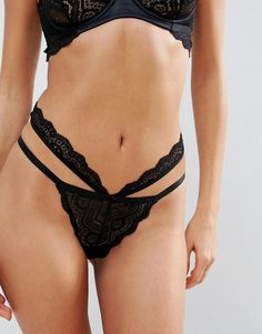 a033a2f06f417 ASOS Malin Lace Strappy Hipster Bikini Bottom at asos.com. Discover lingerie    nightwear on sale for women ...
