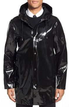 Regenmantel, Lederjacke, Kapuze, Jacken, Regenjacke, Regenbekleidung, Latex  Mode, Mac 43583ba19a