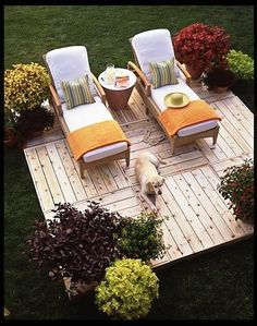 Floating patio