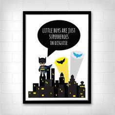 BATMAN kleine Jungs sind Superhelden Wand von Littlelovesdecor