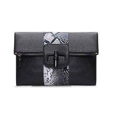 Yoins Yoins Snake Effect Fold Over Clutch Bag (155 GTQ) ❤ liked on Polyvore featuring bags, handbags, clutches, black, shoulder bag purse, python print handbag, snake print handbag, snake print purse и snake handbag