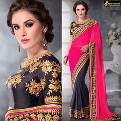 buy Designer sari bollywood wedding red saree indian bridal latest sarees blouse