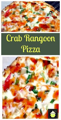 Crab Rangoon Pizza Ingredients Flatbread (or your fav pizza crust) / 85 g of cream cheese 2 green onions minced / 85 g of imitation crab flaked / 75 g of mozzarella (or fontina) Sweet and sour sauce (or sweet chili sauce) Seafood Recipes, Appetizer Recipes, New Recipes, Dinner Recipes, Cooking Recipes, Favorite Recipes, Appetizers, Pizza Recipes, Drink Recipes