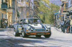The Final Targa, Martini Porsche 911 Carrera Motorsport Kunstdruck von Nicholas Watts