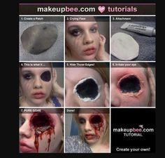 Halloween Make Up... Gauged Out Eye Socket