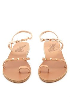 bd135413fc491b Buy Ancient Greek Sandals Alpi Shell Embellished Leather Sandals Online