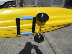 collapsible kayak rack from a granny walker