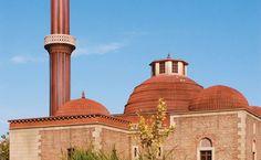 Konya Minaret Madrasa at Miniaturk Park in Istanbul, Turkey