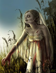 Zombie Bride by HCullymore on DeviantArt Zombie Life, Zombie Art, Creepy, Scary, Zombie Vampire, Zombie Monster, Zombie Apocolypse, Walking Dead Zombies, Zombie Attack