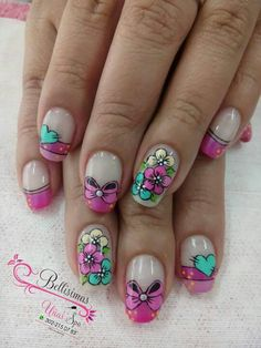 Pretty Nail Designs, Hair Designs, Nail Art Designs, Fancy Nails, Cute Nails, Pretty Nails, Make Up Tricks, Paws And Claws, Nail Art Stickers